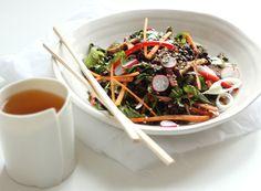 black rice sesame salad