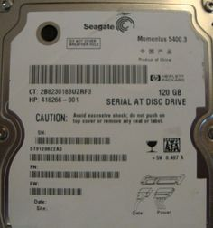 "10 pc. lot Seagate ST9120822AS 2.5"" 120gb 5400rpm Sata HDD (DOD tested & Wiped) - Effective Electronics"