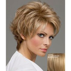 Stylish Fluffy Side Bang Noble Charming Short Wave Human Hair Women's Capless Wig