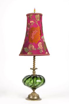 Betsy by Susan Kinzig and Caryn Kinzig (Mixed-Media Table Lamp) Antique Lamps, Vintage Lamps, Desk Lamp, Table Lamp, Wall Lamps, Ceiling Lamps, Floor Lamps, Wall Sconces, Large Lamps