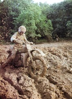 It ain't muddy at all. It's just wet dirt that you can't resist to ride in.