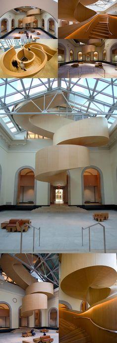 Art Gallery of Ontario. Beautiful stairs.