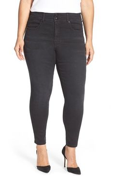MELISSA MCCARTHY SEVEN7 High Rise Pencil Jeans (Guardian) (Plus Size) available at #Nordstrom