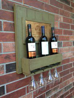 Wine Rack Rustic Cedar Wood / wall decor via Etsy