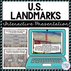 US Landmarks Interactive Google Slides™ Presentation is the Perfect reading comprehension activity during distance learning! This presentation focuses on US Landmarks, Statue of Liberty, Mount Rushmore, Empire State Building, Alamo, Space Needle, Grand Canyon, White House and the Golden Gate Bridge. These social studies activities are self checking