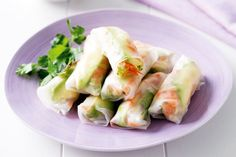 Avocado and vegetable rice-paper rolls