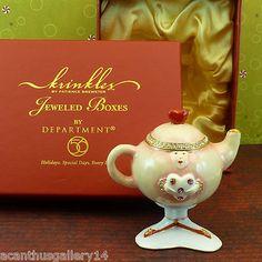Krinkles Xmas Dept 56 Teapot Heart Girl Jeweled Box Patience Brewster Retire | eBay