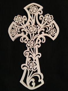 Croix floral pour noël
