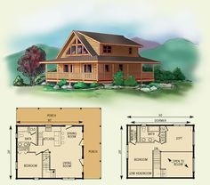 Cabin home plans with loft log home floor plans log for Log home floor plans with loft and basement