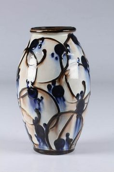 Hermann A. Kähler vase af keramik, kohornsglasur | Lauritz.com