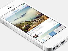 Instagram iOS 7 by Andrew Korytsev. 25 Stunning #Mobile #UI Examples