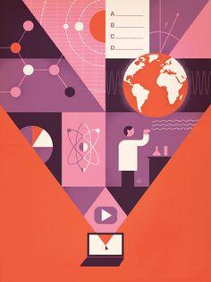 Georgia Tech Alumni Magazine - Jesse Lefkowitz Illustration #illustration #graphicdesign