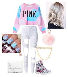 """PINK"" by tryn11 ❤ liked on Polyvore featuring Chicnova Fashion, Timberland, Moschino, Tory Burch and RAJ"