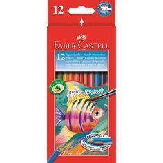 Buntstift Aquarell 12er Kartonetui inkl. Pinsel Ca. 6,95€