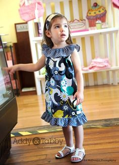 This easy ruffle dress includes sizes years. Cute Little Girl Dresses, Cute Outfits For Kids, Girls Dresses, Ruffle Dress, Baby Dress, Sewing Patterns For Kids, Sewing Ideas, Stylish Kids, Simple Dresses