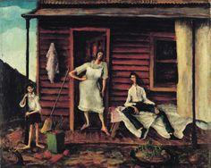 Russell Drysdale - the back verandah Australian Painting, Australian Artists, Gallery Of Modern Art, Art Gallery, Dark Landscape, Bell Art, New Zealand Art, Art Activities For Kids, Art Studies