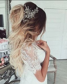 Best Wedding Hairstyle With Mid Length Hair Best Wedding Hairstyles, Unique Hairstyles, Latest Hairstyles, Hairstyles Haircuts, Hair Color 2018, Latest Hair Color, Hair 2018, Elegant Wedding Hair, Wedding Hair Pieces