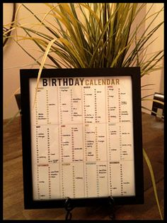 Free Printable Birthday Calendar I Like This So Much Better Than