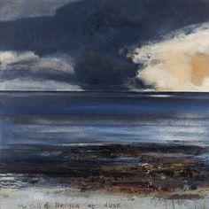 Kurt Jackson: The call of the sea at dusk. 2013 Campden Gallery, fine art, Chipping Campden, camden gallery, contemporary, contemporary arts...
