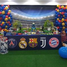 Soccer Birthday Parties, Soccer Party, 9th Birthday, Football Themes, Cakes For Boys, Baby Party, Bar Mitzvah, Champions League, Popcorn Recipes