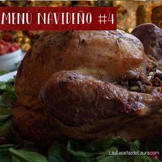 Un menú completo para que prepares en esta navidad, pavo al romero, guarniciones, ensalada y postre. Todo delicioso y saludable.