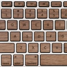 Lazerwood Keys for MacBook Pro - Walnut