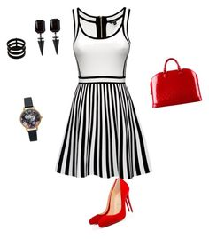 """Untitled #1"" by zeet-gits on Polyvore featuring Christian Louboutin, Louis Vuitton, Olivia Burton and Repossi"