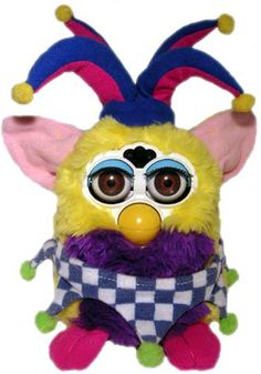 jester furby. creepy yet cuddly