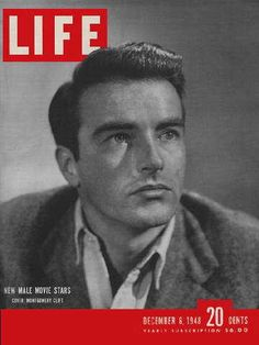 "Montgomery Clift ~ Life Magazine ~ December 6, 1948 issue ~ Click image to purchase. Enter ""pinterest"" at checkout for a 12% discount."