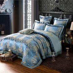 Hessian Satin Jacquard Four-Pieces Bedclothes Cotton Sheets Bedding 4 King Sheets, Bed Sheets, Linen Bedding, Bedding Sets, Comforter, Cheap Bed Linen, Restoration Hardware Bedding, Matching Bedding And Curtains, Hotel Collection Bedding