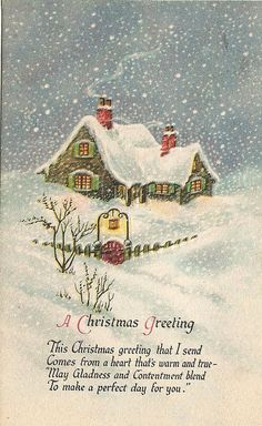 Christmas greeting #vintage #antique