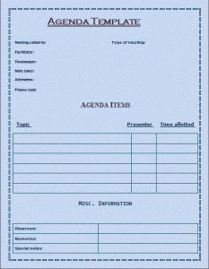 FormalMeetingAgendaTemplate  Agendas    Template