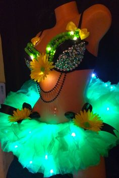 LED light up Neon Green Electric Daisy Costume rave by Plurdolls, $130.00