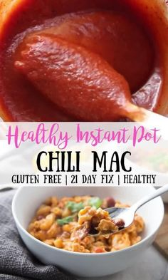 This Healthy Instant Pot Chili Mac is the perfect pairing of two of my favorite meals: chili and mac and cheese. Perfectly portioned for the 21 Day Fix, and gluten-free, too! This is a healthy meal for the whole family! Healthy Recipes, Dairy Free Recipes, Real Food Recipes, Chili Mac, Healthy Weeknight Dinners, Feel Good Food, Gluten Free, Instant Recipes, Main Menu
