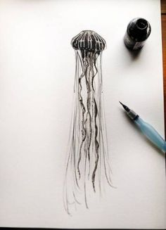Ethereal art jellyfish - ink and water, limited edition PRINT! - Ethereal art jellyfish ink and water limited edition PRINT - Ocean Sleeve Tattoos, Tattoo Sleeve Filler, Ocean Life Tattoos, Jellyfish Tattoo, Jellyfish Art, Jellyfish Drawing, Tattoo Platzierung, Tattoo Drawings, Armband Tattoo