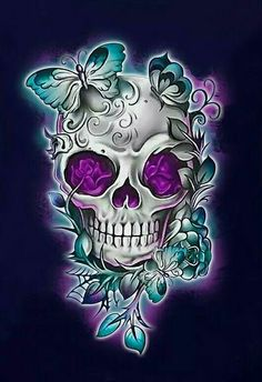 Skull Rose Tattoos, Skull Girl Tattoo, Skull Tattoo Design, Skull Design, Body Art Tattoos, Sugar Skull Wallpaper, Sugar Skull Artwork, Sugar Skull Drawings, Sugar Skull Mädchen