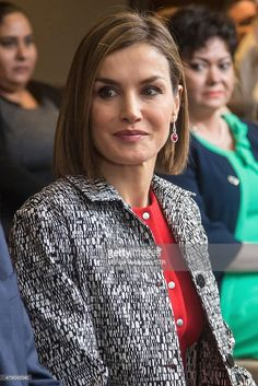 Queen Letizia looks on during the encounter with the Iberoamerican Alliance for Rare Diseases at Presidente Hotel on June 30, 2015 in Mexico City, Mexico. The Spanish Monarchs are in their second state visit since the proclamation of Felipe VI as Spanish King last June 19th of 2014.