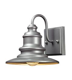 ELK Lighting Marina 1 Light Outdoor Wall Sconce in Matte Silver 47020/1 #elk #elklighting #lightingnewyork #lighting