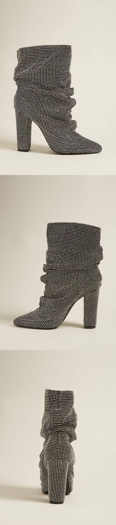 Chainmail Rhinestone Ankle Boots // 78.00 USD // Forever 21
