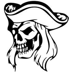 Pirate Skull Die Cut Vinyl Decal PV1262