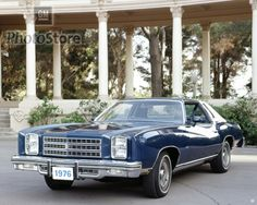 1976 Monte Carlo-- The 76 Monte Carlo was my first car.. came right off the showroom floor.... where this one is dark blue mine was light blue...