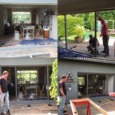 Project :Van aluminium schuifpui ( 70 jaren) naar tuindeuren