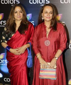 Neena Gupta and Soni Razdan at the Colors Golden Petal Awards party. #Bollywood #Fashion #Style #Beauty #Desi #Saree