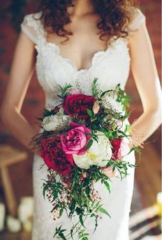 The Urban Bohemian | WHITE Magazine Gorgeous dress with a nice pop of colour from the bouquet