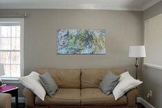 Yellow Painting, Grey Yellow, Acrylic Painting Canvas, Modern Wall Art, Discovery, Colours, Abstract, Medium, Artwork