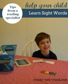 Easy tips for parents to help kids learn to read sight words-- free printable handout for teachers #backtoschool