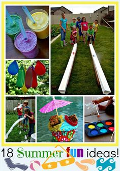18 Summer Fun Ideas! #summeractvities #summerideas #watergames