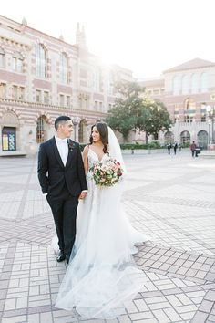 Bride & Groom gets married at their alma mater, USC!