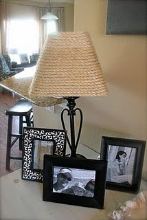 sisal lamp shade. i think this will work better for my lamp shade! it's this shape here.