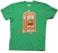 Dr. Doctor Who Tardis Gingerbread Mens T-shirt S